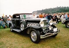 Ještě výkonnější verze SJ s odstředivým plnicím kompresorem motoru (čtyřdveřový kabriolet Riviera by Brunn z roku 1933)