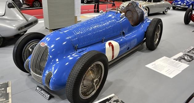 Bugatti T 59/50 B zapůjčilo Národní automobilové muzeum vMolsheimu. Wimille s ním vyhrál roku 1945 Coupe des Prisonniers