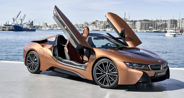 Oproti Coupé má Roadster nosnou strukturu dveří vyrobenou z uhlíkových kompozitů, plášť dveří je hliníkový