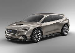 Na nejnovějším koncepčním voze Viziv Tourer Concept (Ženeva 2018) Subaru zvýraznilo kamery systému EyeSight. Technikou se drží osvědčené trojkombinace: boxer, Lineartronic a symetrický pohon všech kol