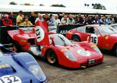 Situaci v Sebringu 1970 zachránil druhý vůz (1026), Andretti přesedl kposádce Giunti/ /Vaccarella a vyhráli (vůz vlastní Nick Mason, snímek zGoodwoodu 2000)