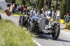 Mercedes-Benz 710 SSK z roku 1929 dosahuje výkonu 225 k. Šestiválec má objem 7 litrů