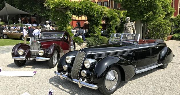 Pinin Farinův kabriolet Lancia Astura Série III (1936) porazil kupé Bugatti 57 Atalante (1937) v pozadí ve třídě aerodynamických automobilů období art deco. Belgický importér mnoha značek D'leteren měl, mimo jiné, vlastní karosáře. Oblékli toto jediné Bugatti
