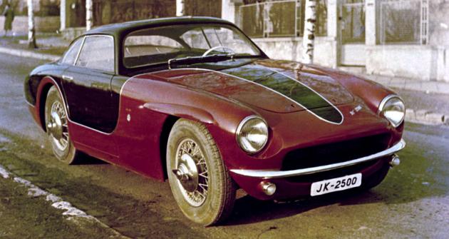 Dvoumístné kupé JK 2500 vpůvodní podobě z let 1955 – 56
