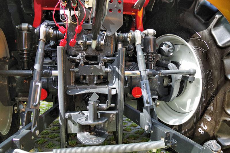 Detail řízení zadních kol