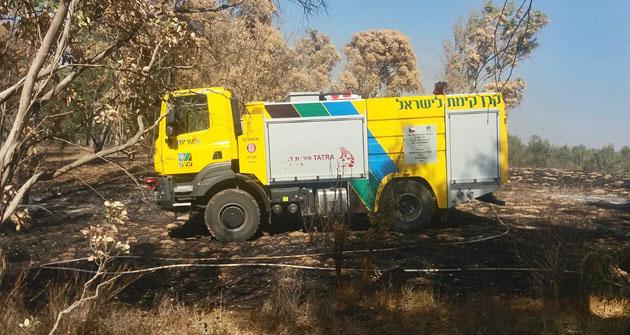 Hasičský automobil TATRA pomáhá vIzraeli