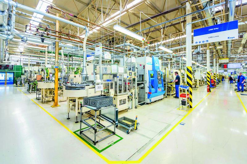 Automatické výrobní linky naválečková ložiska.