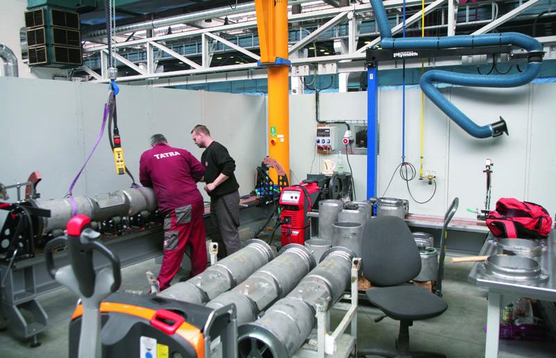 Součástí konstrukční atechnologické unifikace přípravy avýroby nosné roury/trouby bylo take navržení zcela nového přípravku pro budoucí svařenec.