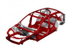 Mazda vyztužila karoserii zejména voblasti horního uložení tlumičů, středového tunelu azadních podběhů