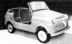 Drobnou španělskou plážovou Furgonetu Hispano poháněl dvoudobý motocyklový motor domácí provenience