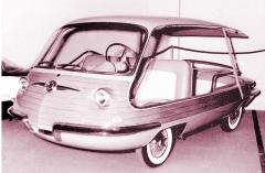 """Vignale Fiat 600 Multipla """"Spiaggetta"""" představená v Ženevě 1957"""