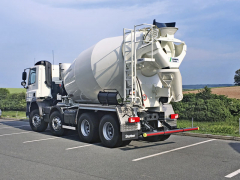 Domíchávač betonu na podvozku DAF CF 410 FAD 8x4, snástavbou Stetter AM 9 C3 Ultra Eco o objemu 9 m3