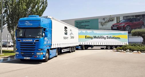 Celková délka soupravy je 31,7 m a maximální užitečná hmotnost 70 t