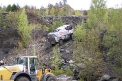 Gert Huzink za volantem trucku Renault MKR-K Range vprudkém výjezdu dovyššího patra lomu