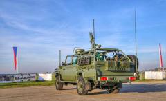LRPV Gepard má ve výzbroji mj. těžký kulomet ráže 12,7 mm