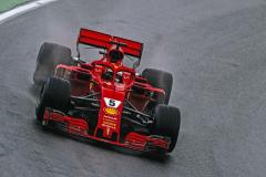 Sebastian Vettel (Ferrari SF71H) se tentokrát na Hungaroringu musel spokojit se druhým místem