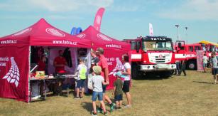 Světová předpremiéra TATRA TERRA pro hasiče azáchranáře – jedna ztřešinek značky TATRA nadortu PyroCar 2018.