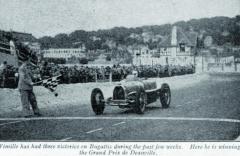 Rok 1936 byl pro Wimilla zhlediska závodění velmi dobrý. Navozech Bugatti získal během několika týdnů cenná vítězství. Pro zlatý věnec si přijel též vhororovém závodě Grand Prix vDeauville, při němž nešťastně zahynuli vedvou nasobě nezávislých haváriích Raymond Chambost aMarcel Lehoux.