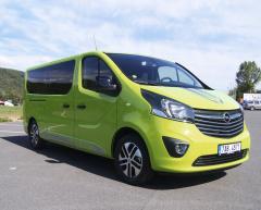 Opel Vivaro Life měl opravdu svěží zelenou barvu poutající pozornost