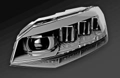 V budoucím HD (High Definition) světlometu budou umístěné tři světelné čipy, celkem tedy bude vozovku osvětlovat 6144 světelných bodů