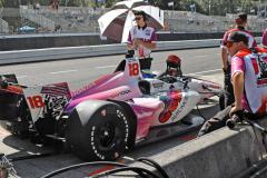Sébastien Bourdais (Dale Coyne Racing) při zastávce v depu
