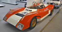 Spider B5 (typ 728 S) z roku 1972 jednes ve sbírkách továrního  muzea Škoda Auto