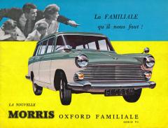 Ještě v šedesátých letech se vozy Morris hojně vyvážely, na titulní straně prospektu je Morris Oxford Traveller VI