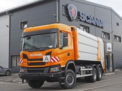 Scania G 410 B6x6HZ snástavbou na svoz komunálního odpadu MUT