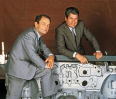 Giorgetto Giugiaro a Aldo Mantovani (vlevo), zakladatelé původního Ital Designu v Moncalieri u Turína