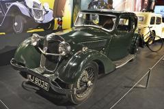 Singer Nine Coupe (1934), oblíbené byly verze s otevřenou karoserií, kupé byla vzácná
