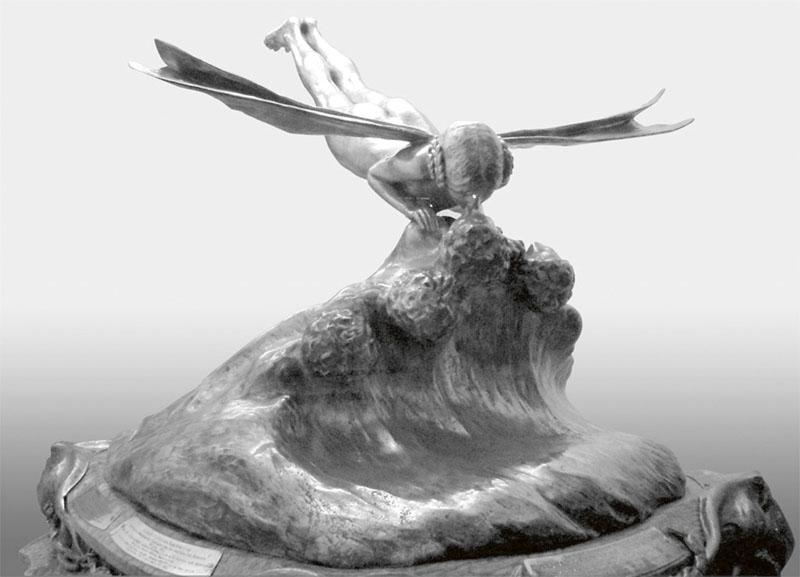 Překrásná cena soutěže o Schneiderův pohár. Do boje o ni zasáhla též hliníková slitina Hiduminium.