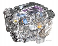 Osmiválec LT4 Small Block byl uveden před třemi lety v Corvette Z06. I přes archaický dvouventilový rozvod OHV umí být nejen výkonný, ale i pružný a v běžném provozu hospodárný. K tomu přispívá například deaktivace poloviny válců při částečném zatížení