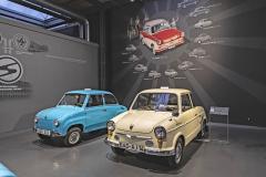 Celá jedna část muzea je věnována fenoménu Trabant