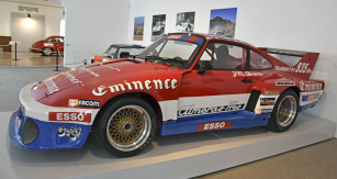 "Toto Porsche 935 A4 ""Silhouette Almeras"" (1977) skupiny 5 řídil v letech 1978 – 79 Jean-Marie Alméras ve vrchařských šampionátech Evropy a Francie"