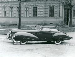 Dvoumístný kabriolet Aero 50 Dynamik ročníku 1939 pro syna majitele továrny Aero