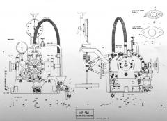Celková sestava hydraulické brzdy Heenan Froude DPX4.