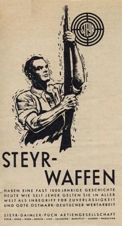 Zbrojovka Österreichische Waffenfabriks-Gesellschaft (ÖWG) veSteyru, věrna svému prvotnímu účelu, fungovala veměstě uprostřed Rakouska odroku 1864. Mírová smlouva ze Saint-Germain-en-Laye (1919) ovšem válečnou produkci zakázala, atak musela zbrojovka napřít svoje vývojové avýrobní síly jiným směrem. Až vroce 1926 firma přijala název Steyr-Werke A.G.