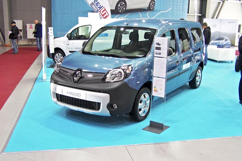 Renault Kangoo Z. E. je kdispozici jak vosobním, tak užitkovém provedení