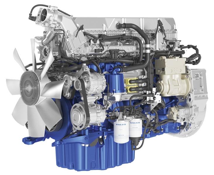 Vznětový motor Volvo D13 emisní specifikace Euro VI Step D je vtomto momentě vrcholným produktem severského koncernu zhlediska uplatnění nejmodernějších anejpřísnějších emisních limitů.