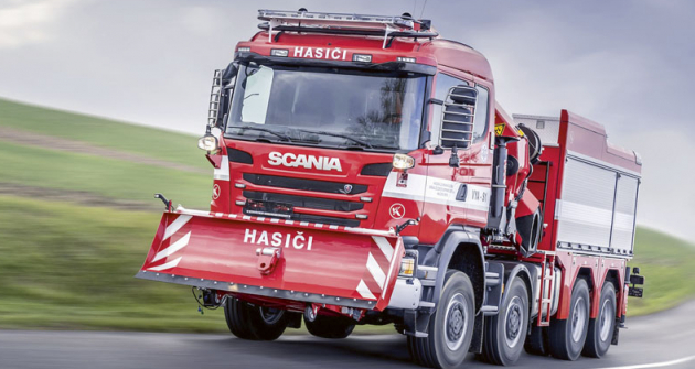 Vozidla – jsou postavena napodvozcích Scania G490 CB 8×8 EHZ CG 19 N.