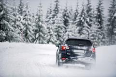 Jistota a kvalita jízdy na sněhu je silnou stránkou modelu Outback