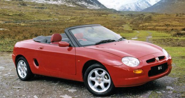 MGF 1.8i, zcela nový roadster s motorem uprostřed, slavil premiéru v roce 1995