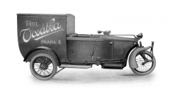 Trimobil coby skříňová dodávka pro přepravu až 300 kg nákladu (1922)
