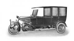 Trimobil EK 4 z roku 1924 s uzavřenou karoserií sloužil i jako autodrožka