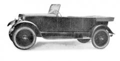 Malý automobil Šibrava 4/14 HP se čtyřdveřovou otevřenou karoserií (1924)