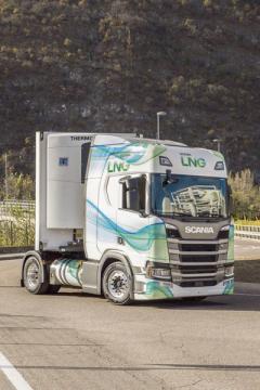 Scania má samozřejmě vozy smožností pohonu naLNG vnabídce.
