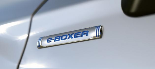 Označení e-Boxer vyjadřuje, že jde oelektřinou doplněný plochý motor sprotiběžnými písty