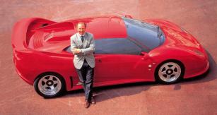 Prototyp Centenaire aFulvio Mario Ballabio v prvním prospektu zroku 1990