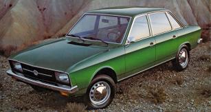 Definitivní provedení Volkswagen K70 (L) z dobového prospektu při uvedení vozu na trh (1970)