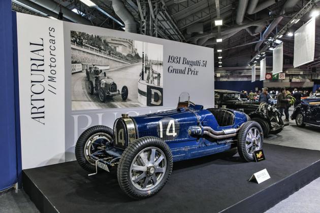 Bugatti Type 51 Grand Prix z roku 1931 nového majitele nenašlo. Nejvyšší příhoz 3,3milionu eur nedosáhl na odhad. Ne vždy to vyjde...